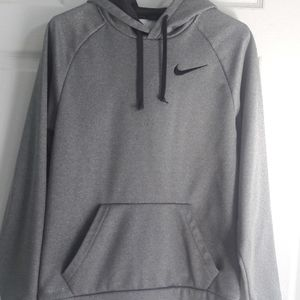 Grey Dri Fit Hooded Nike Sweatshirt